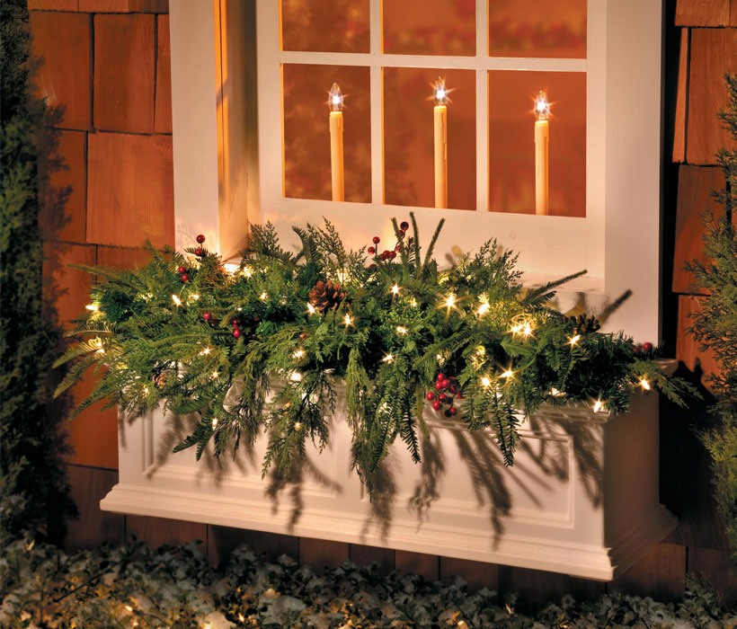Dress Your Home to Impress with These Outside Christmas Decorations-Window