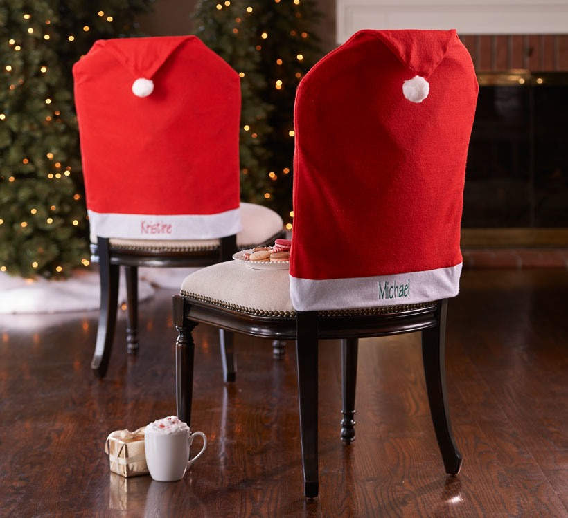 How to Decorate a Small Spaces for Christmas-Chair Covers