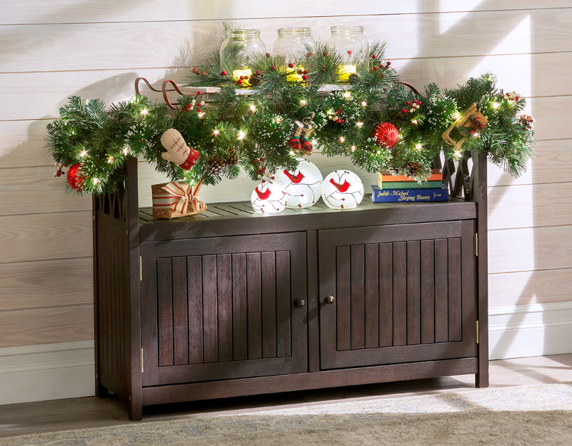 Mantel Decorating Ideas: How To Fake a Mantel-Sideboard