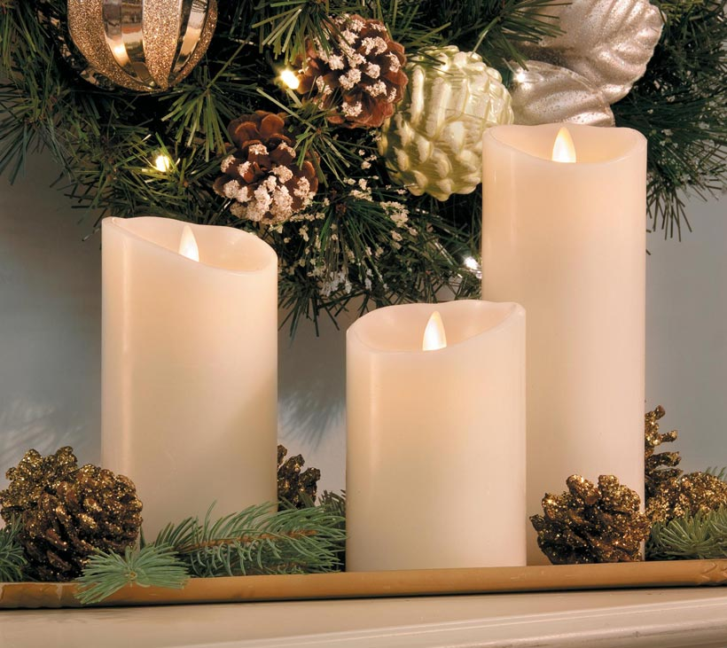 How To Fake a Mantel-Candles and Pinecones