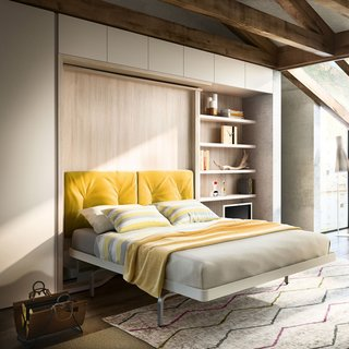 Sofa Bed Versus Wall Bed: What's Best For Your Small Space? - Photo 7 of 10 - Resource Furniture Queen-Size Wall Beds