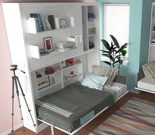 Sofa Bed Versus Wall Bed: What's Best For Your Small Space? - Photo 8 of 10 - Twin Murphy Wall Bed from Wayfair