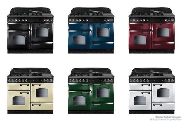 Rangemaster's kitchen range ovens come in several classic colors