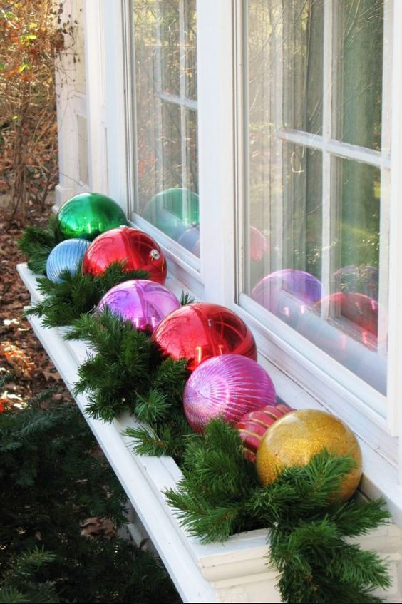 Fill Your Once Blooming Flower Bed with a Handful of Brightly Colored Ornaments.