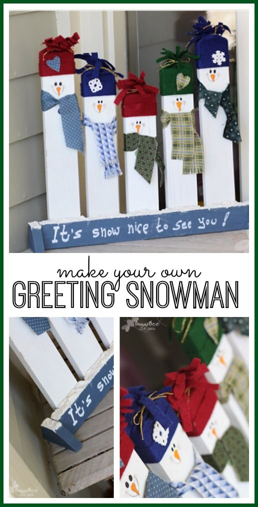 DIY Greeting Snowmen.