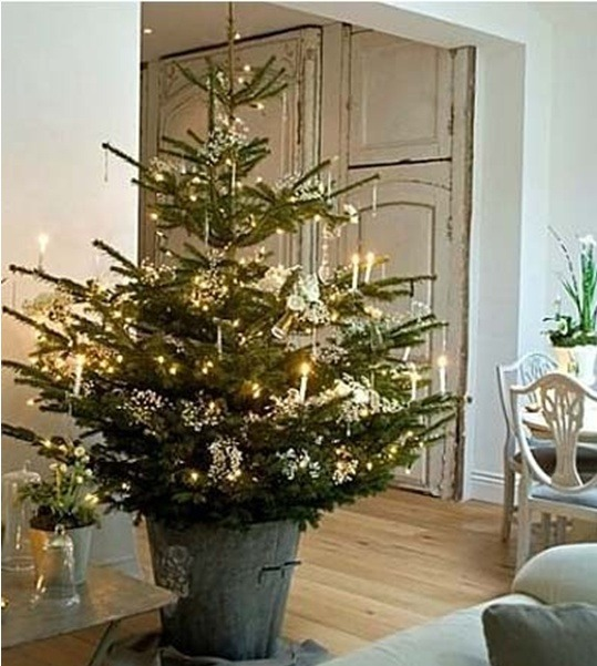Christmas-tree-idea-for rustic-christmas-decorations