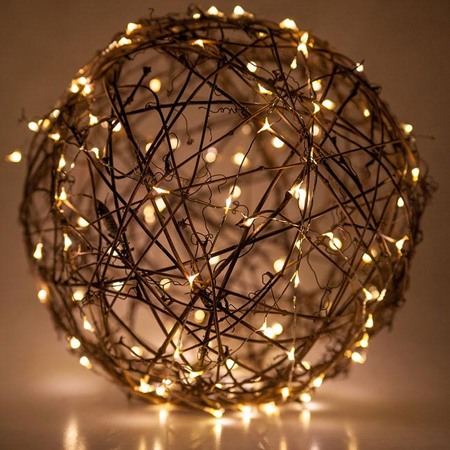 grapevine ball with fairy lights