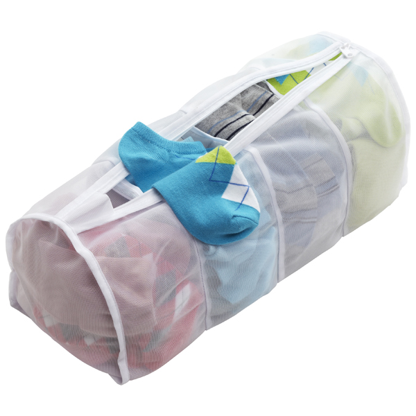 Sectioned Mesh Hampers for Yarn Organization - 150 Dollar Store Organizing Ideas and Projects for the Entire Home