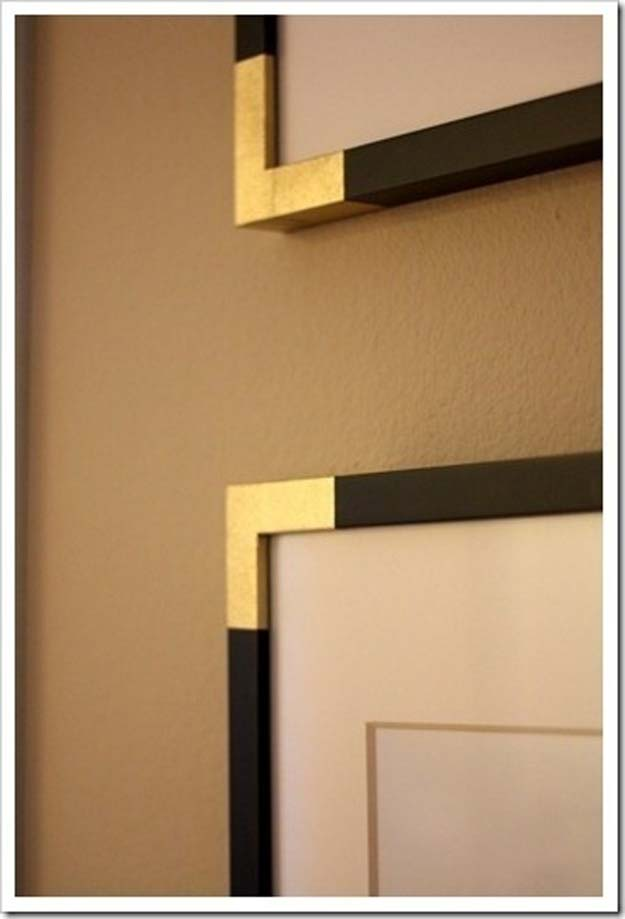 Gold DIY Projects and Crafts - Brass Frame: HB Knock Off - Easy Room Decor, Wall Art and Accesories in Gold - Spray Paint, Painted Ideas, Creative and Cheap Home Decor - Projects and Crafts for Teens, Apartments, Adults and Teenagers http://diyprojectsforteens.com/diy-projects-gold