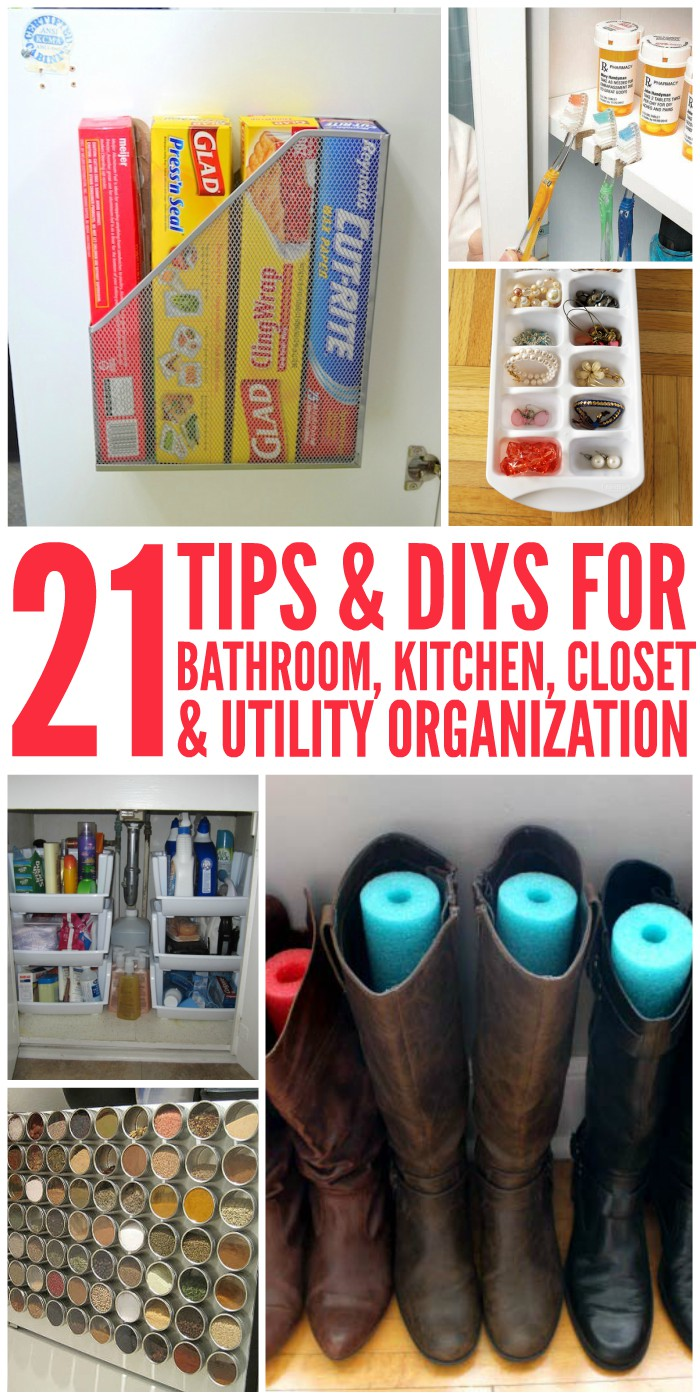 Where to start? Here are some of the best tips and DIY Organization Ideas to get your home tidied up once and for all!