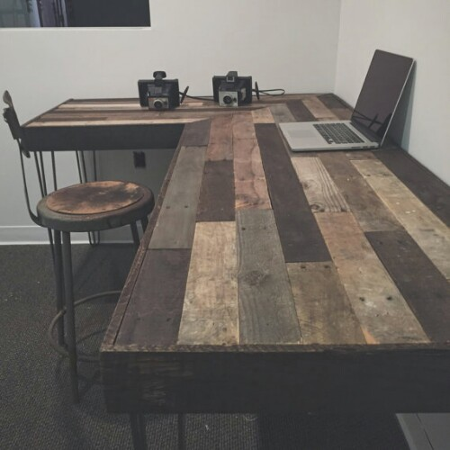 Reclaimed Wood L-Desk