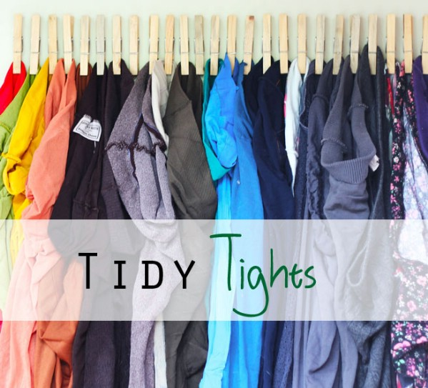 Hanging Organizer for Tights - 150 Dollar Store Organizing Ideas and Projects for the Entire Home