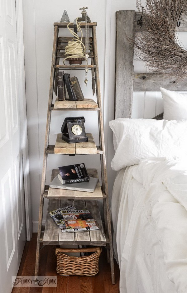 Old Step Ladder Side Table: