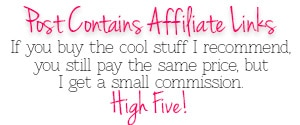 Post Contains Affiliate Links - You pay the same price, I get a small commission. High Five!