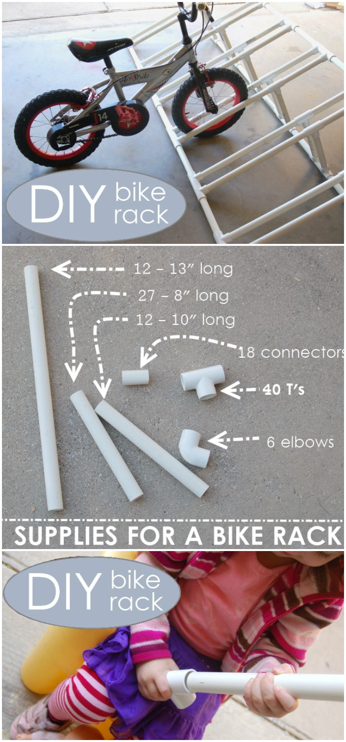 Creative PVC Pipe Bike Rack Cheap DIY Projects For Your Home Decoration