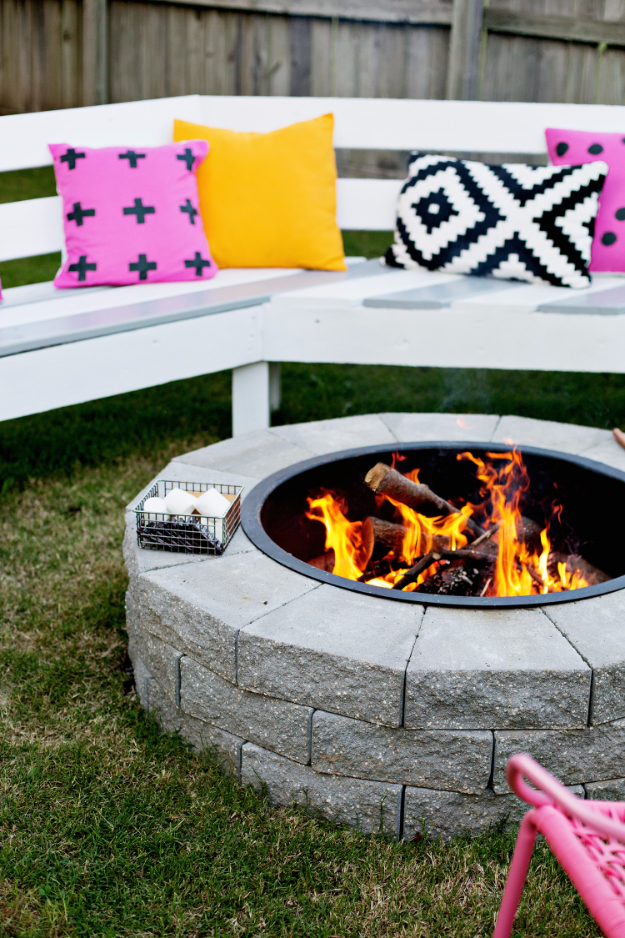DIY Fireplace Ideas - DIY Firepit In 4 Easy Steps - Do It Yourself Firepit Projects and Fireplaces for Your Yard, Patio, Porch and Home. Outdoor Fire Pit Tutorials for Backyard with Easy Step by Step Tutorials - Cool DIY Projects for Men and Women http://diyjoy.com/diy-fireplace-ideas