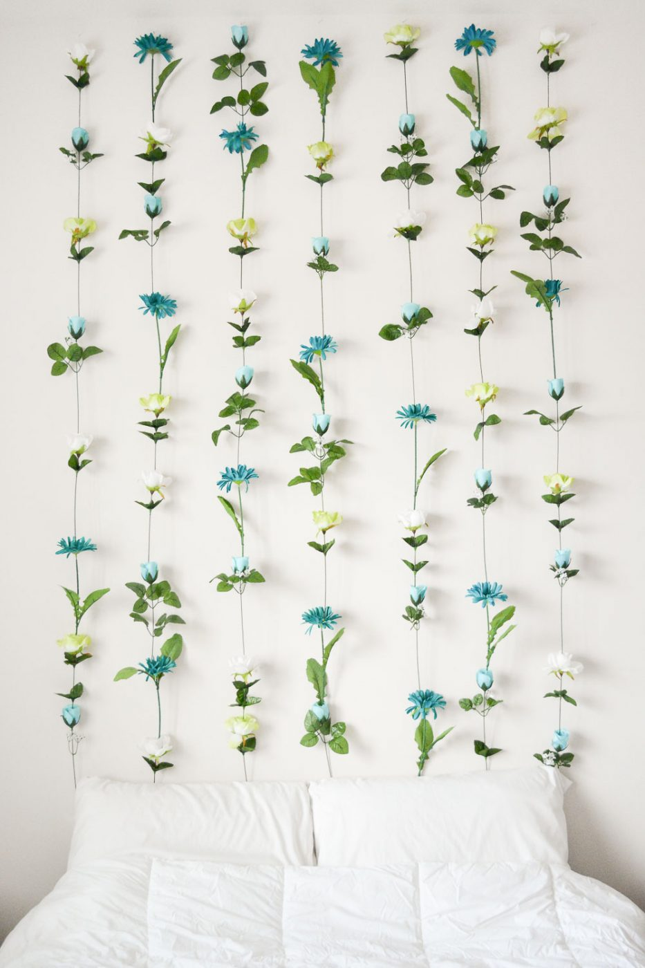 DIY Flower Wall Headboard