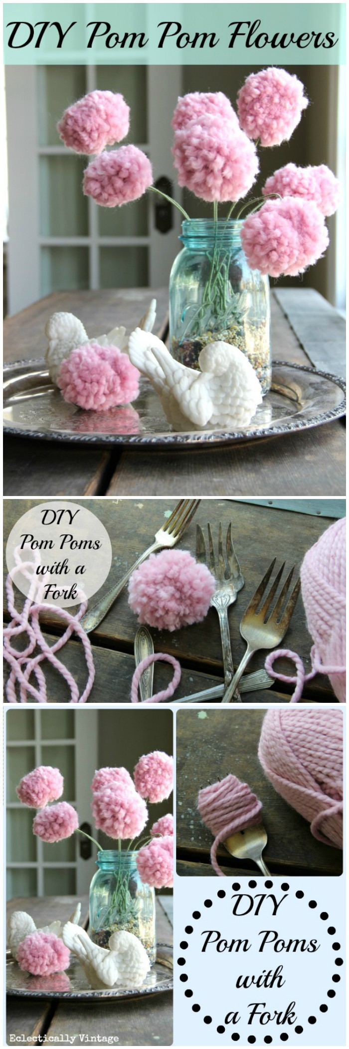 DIY Pom Poms Flowers Cheap DIY Projects For Your Home Decoration