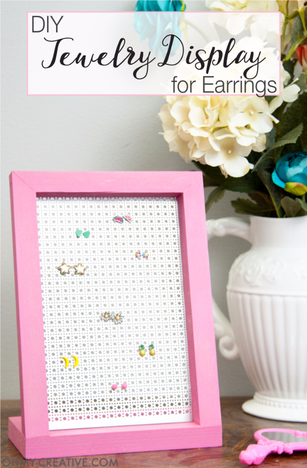 41 Easiest DIY Projects Ever - Easy DIY Jewelry Display Earrings - Easy DIY Crafts and Projects - Simple Craft Ideas for Beginners, Cool Crafts To Make and Sell, Simple Home Decor, Fast DIY Gifts, Cheap and Quick Project Tutorials http://diyjoy.com/easy-diy-projects