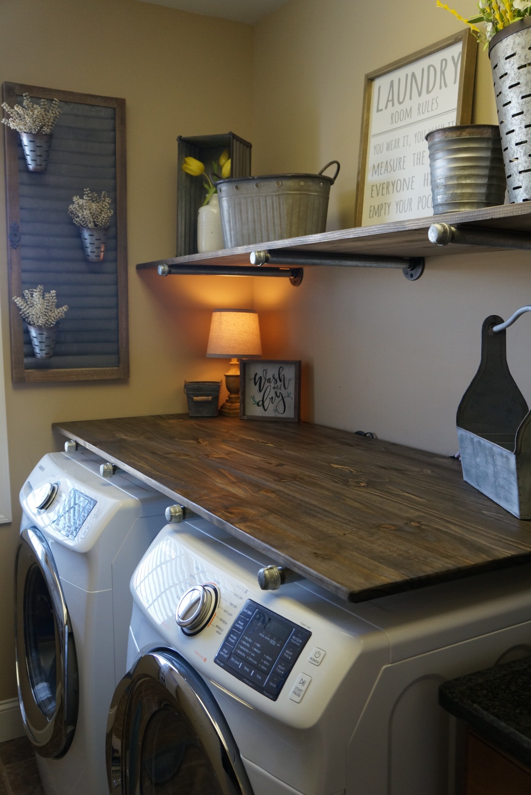 laundry room makeover viral pin