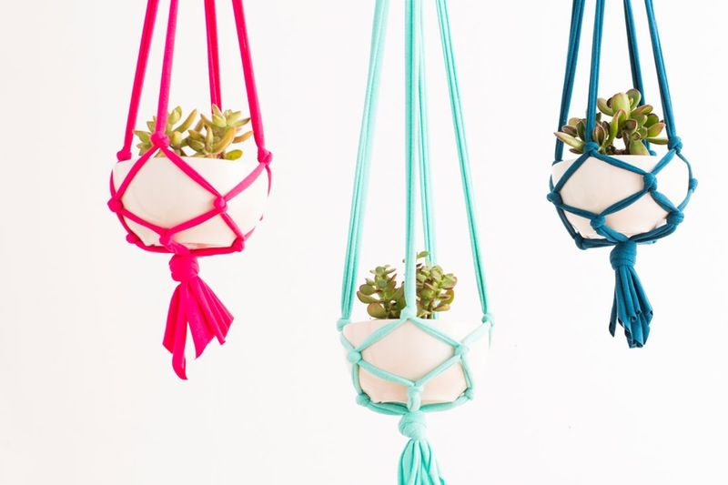 Macrame Hanging Planters Cheap DIY Projects For Your Home Decoration