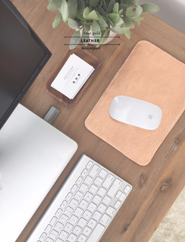 Best DIY Gifts for Girls - Rose Gold Leather Mousepad DIY - Cute Crafts and DIY Projects that Make Cool DYI Gift Ideas for Young and Older Girls, Teens and Teenagers - Awesome Room and Home Decor for Bedroom, Fashion, Jewelry and Hair Accessories - Cheap Craft Projects To Make For a Girl for Christmas Presents http://diyjoy.com/diy-gifts-for-girls