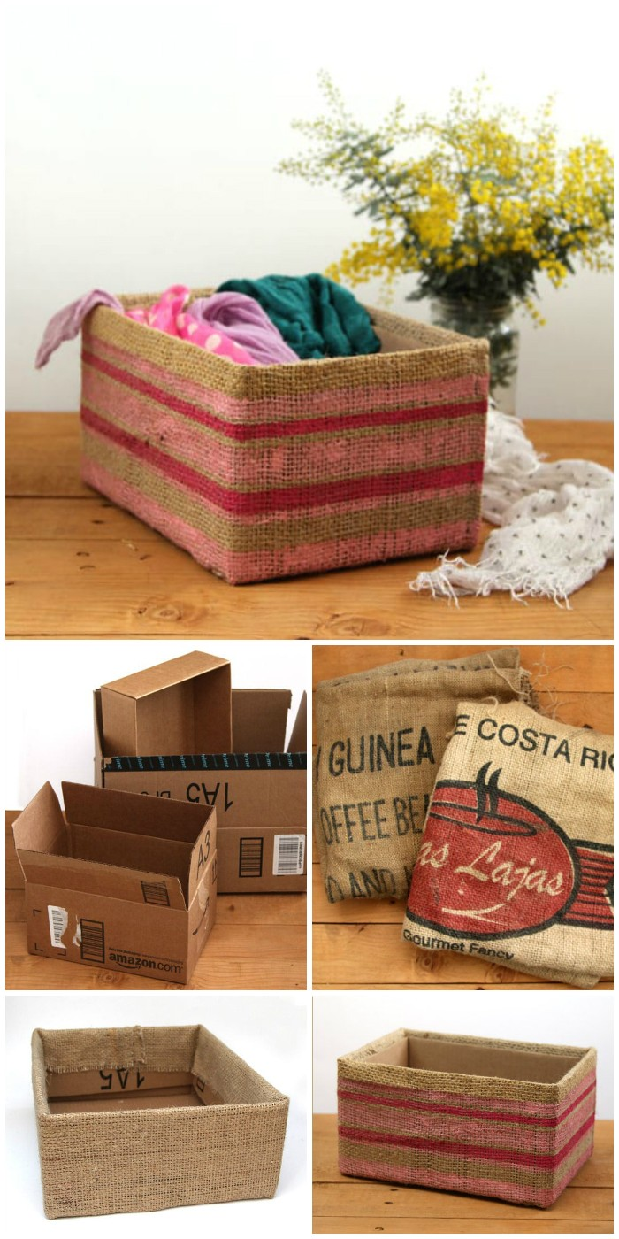 Storage Box From Cardboard Box Cheap DIY Projects For Your Home Decoration