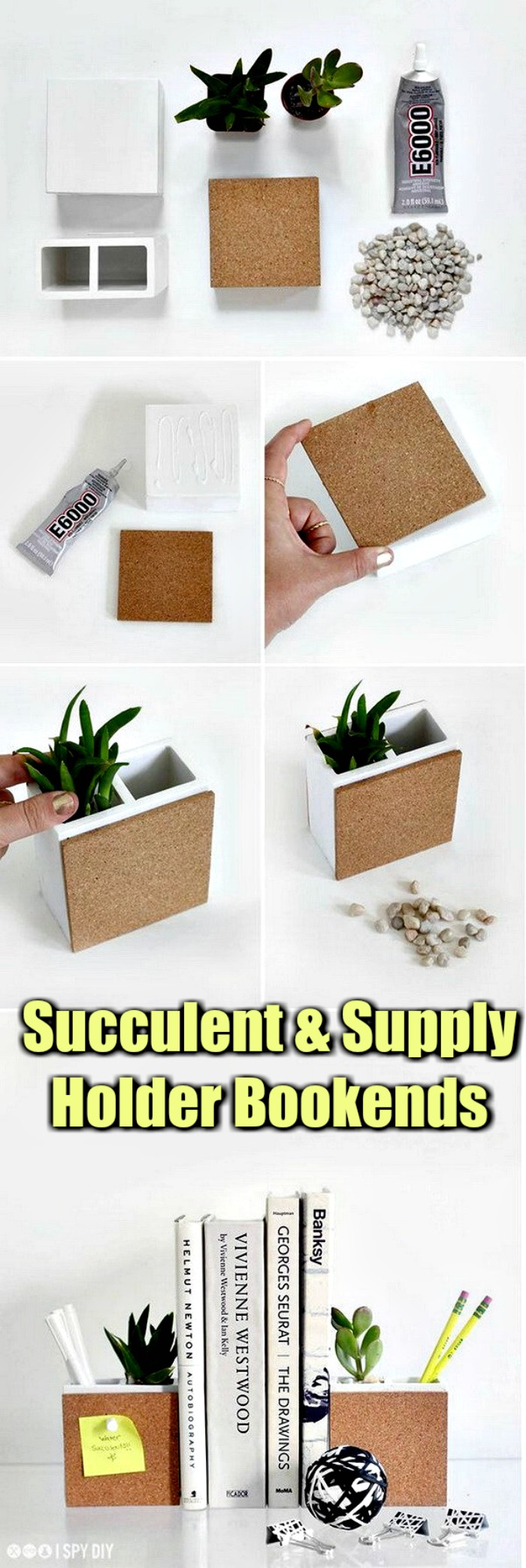 Succulent Supply Holder Bookends Cheap DIY Projects For Your Home Decoration