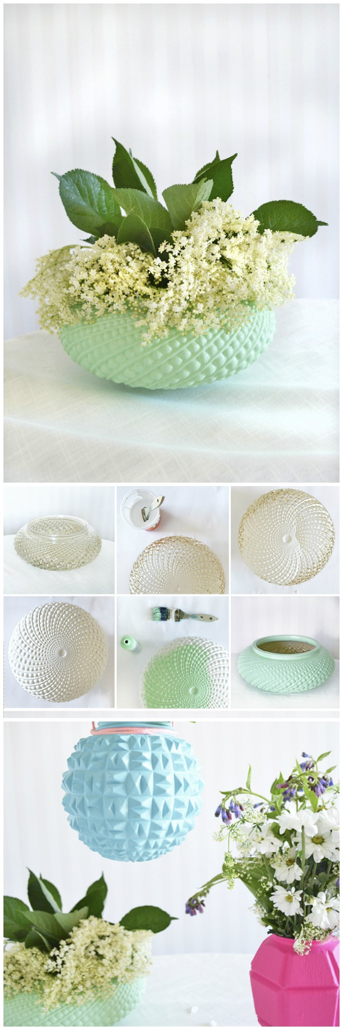 Upcycled Lampshade Vases Cheap DIY Projects For Your Home Decoration