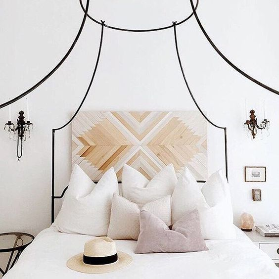 modern bohemian bedroom - bed frame