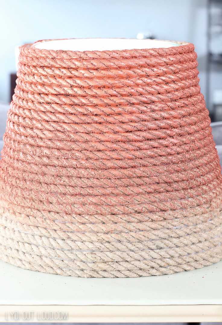 DIY Metallic Jute Basket