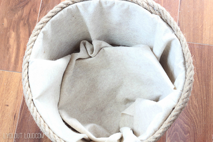 DIY Rope Basket Liner