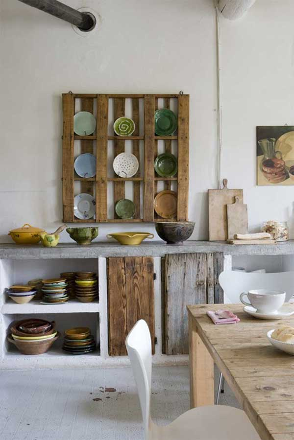 #13 CEMENT COUNTER TOP COMBINED WITH WOODEN PALLETS