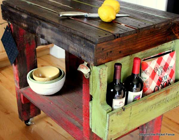 #5 SMALL KITCHEN ISLAND WITH BUILT IN STORAGE