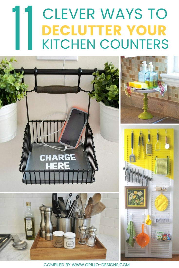 clever ways to declutter kitchen countertops and keep them organized / grillo designs www.grillo-designs.com