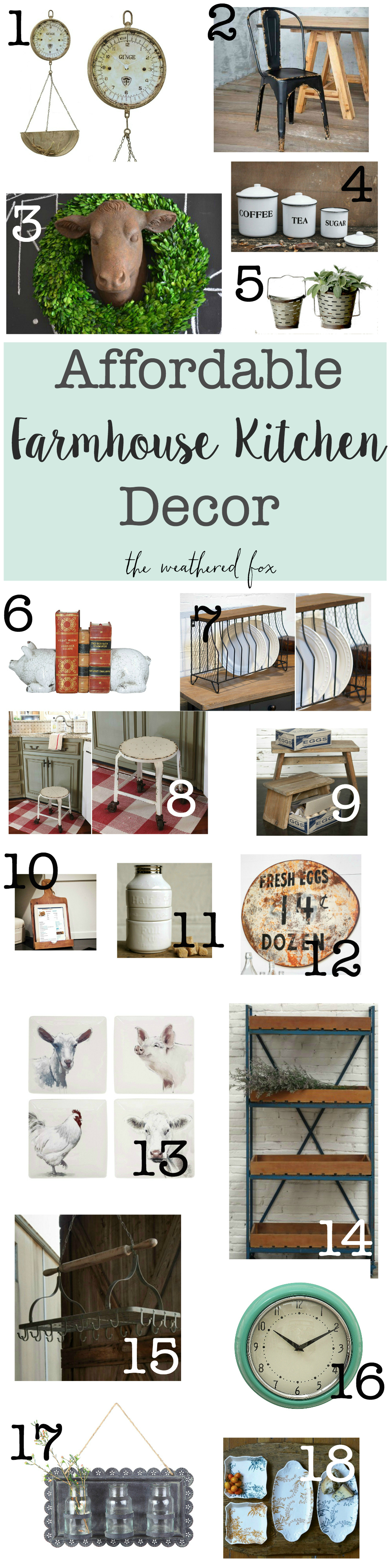 farmhouse kitchen decor with number